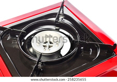 Portable Gas Stove Isolated on White