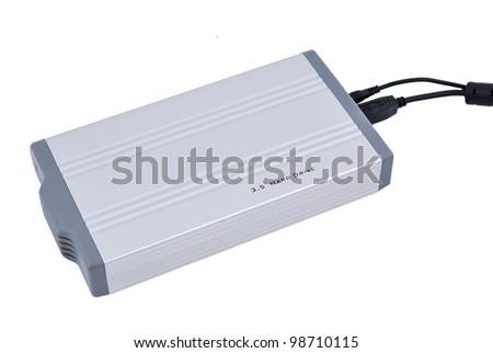 """Portable Hard Drive 3.5 """". plan view - stock photo"""