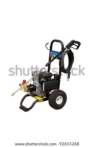 Portable pressure washer - isolated - stock photo