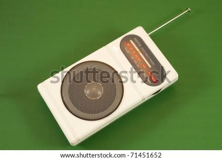 portable radio - stock photo