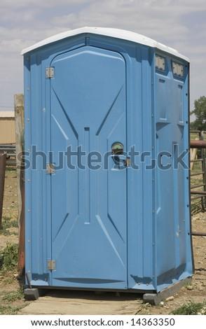 Portable Restroom - stock photo