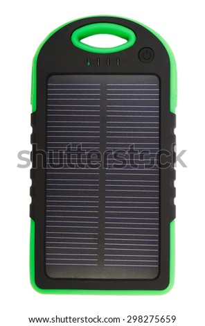 Portable solar panel for charging mobile devices isolated