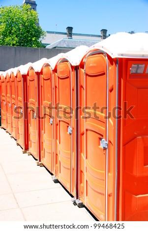 Portable Toilets - stock photo