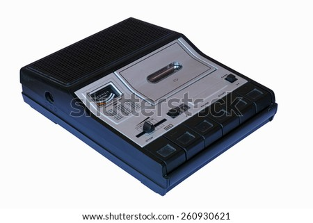 portable top loading cassette recorder - stock photo