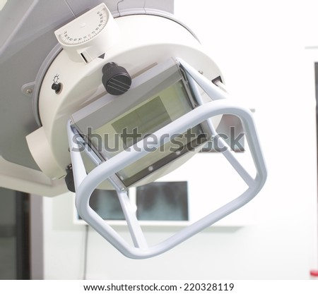 Portable X-ray machine in a hospital ward  - stock photo