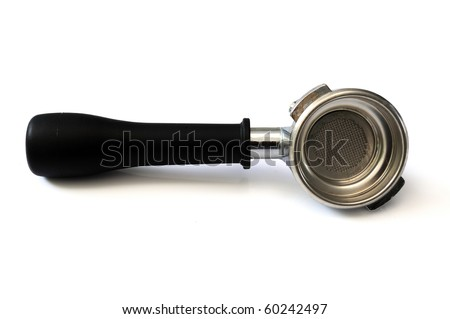 Portafilter handle - stock photo