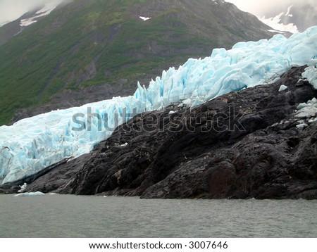 Portage Glacier, Alaska - stock photo