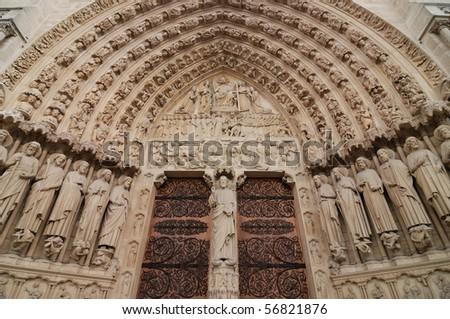 Portal of the Last Judgement - stock photo