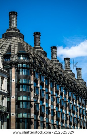 Portcullis House, an office building in Westminster for 213 Members of Parliament and their staff. - stock photo