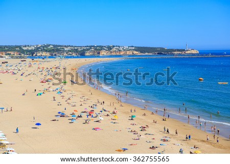 PORTIMAO, ALGARVE, PORTUGAL - CIRCA SEPTEMBER, 2015: The coast of the Algarve in southern Portugal near Portimao