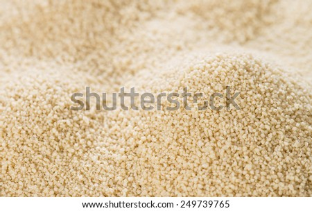 Portion of Couscous (close-up shot) for use as background image or as texture - stock photo