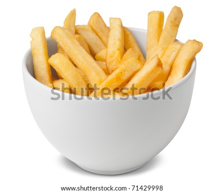 Portion of french fries - stock photo