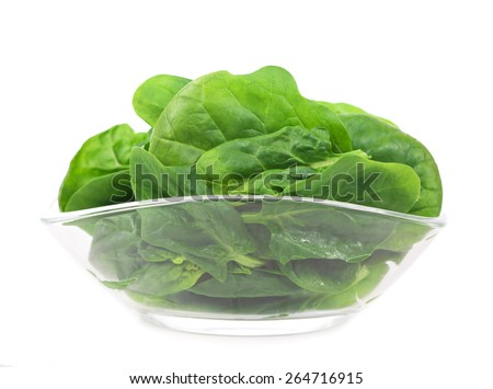 Portion of Spinach isolated on white background