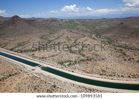 Portion of the Arizona Canal along the Central Arizona Project