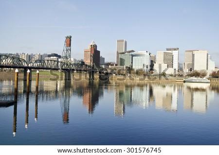 Portland Downtown View  - stock photo