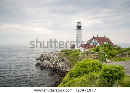 Portland Head Light is a historic lighthouse in Cape Elizabeth, Maine