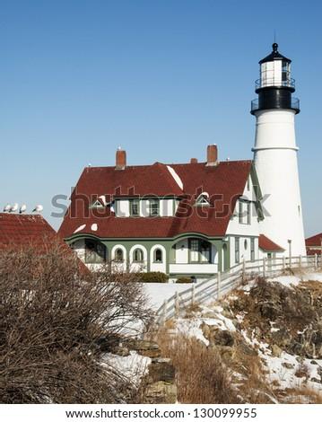 Portland Head Lighthouse - stock photo