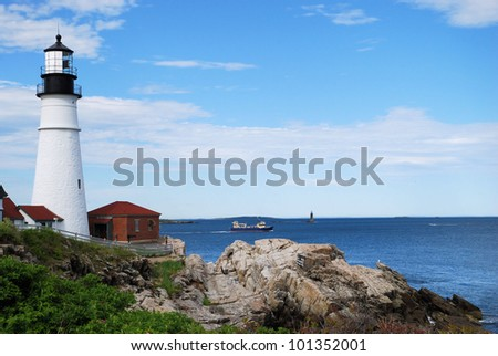 Portland Headlight Lighthouse in South Portland, Maine / The Passing