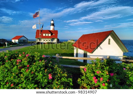 Portland Headlight Lighthouse / Late Day Light