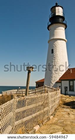 Portland Lighthouse, Portland Maine - stock photo