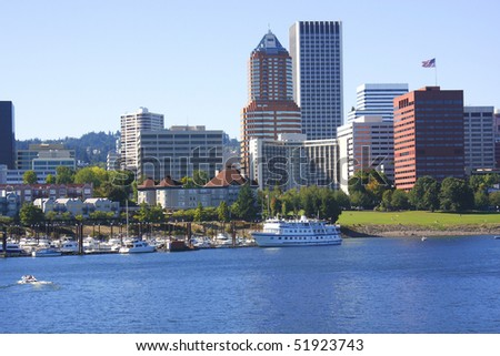 Portland OR., skyline. - stock photo