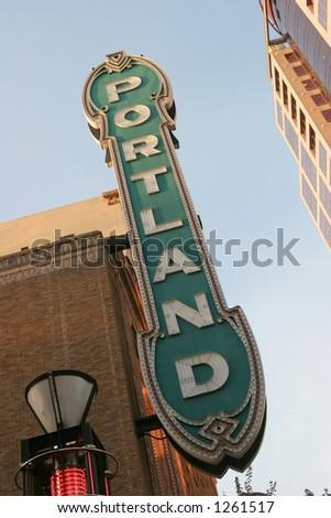 Portland Oregon Sign - stock photo