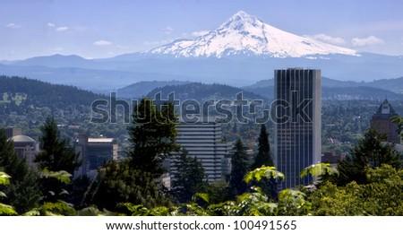 Portland Oregon Skyline - stock photo