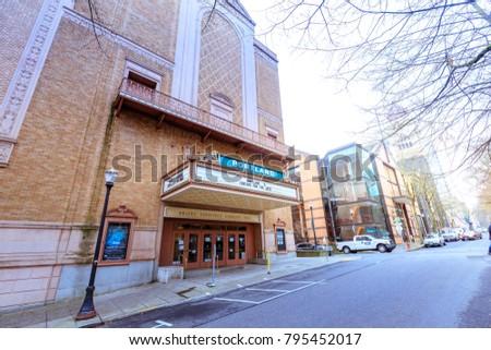 Portland Oregon United States Dec Stock Photo - Arlene schnitzer concert hall portland oregon