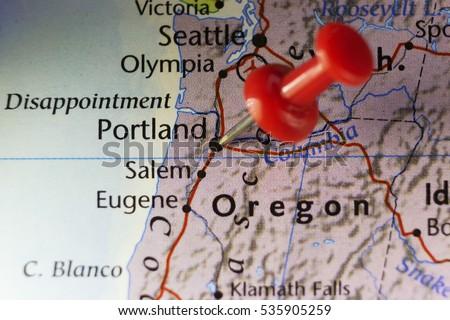 Portland Oregon Map Stock Images RoyaltyFree Images Vectors - Portland oregon usa map