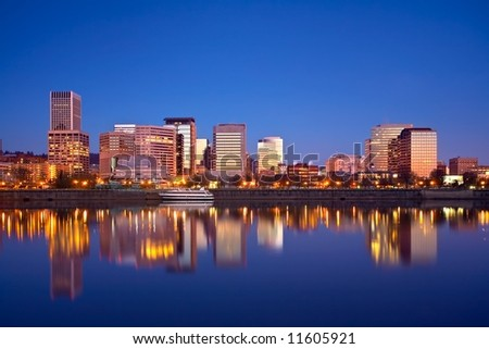 Portland Oregon Waterfront - stock photo
