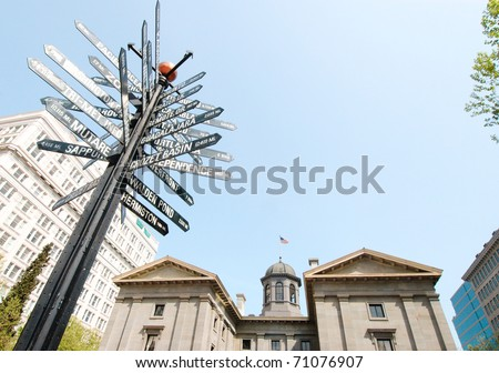 Portland, Pioneer Courthouse - stock photo