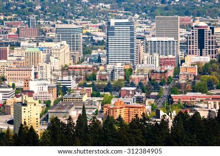 Portland Skyline - stock photo