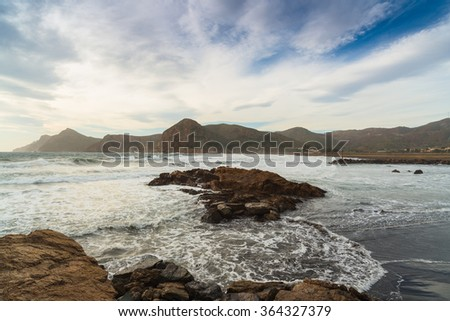 Portman Bay. Cartagena. Region of Murcia. Spain