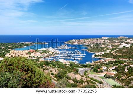 Porto Cervo is the capital of costa smeralda. - stock photo