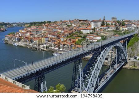 Porto city view (Portugal) - stock photo