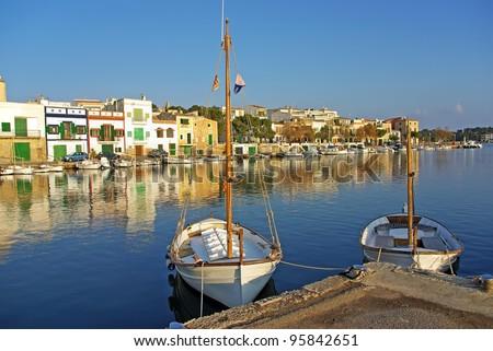 Porto Colom village in Majorca (Spain) - stock photo