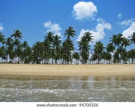 Porto de Galinhas, Brazil: gorgeous dreamy tropical beach (Brasil) - stock photo