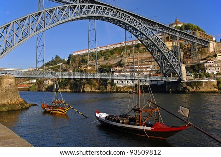 PORTO, PORTUGAL - AUGUST 11 : City of Porto on August 11,2009 in Porto,Portugal. Porto is one of the oldest European centers and has joined the list of UNESCO World Cultural Heritage by UNESCO in 1996 - stock photo