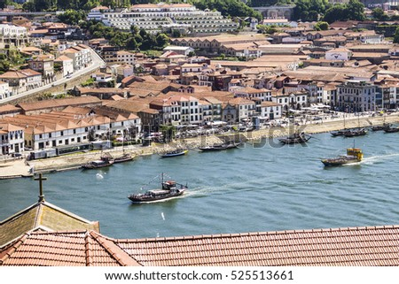 PORTO, PORTUGAL - July 8, 2016: Ribeira view from the bridge, Porto, Portugal on July 8, 2016