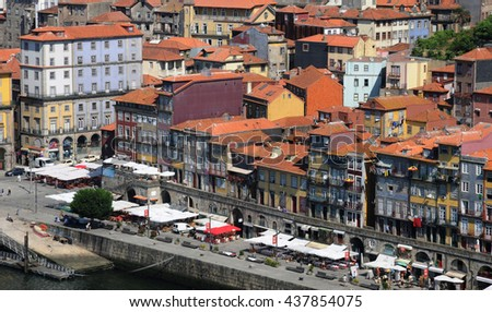 Porto, Portugal - july 10 2010 : the historical city center