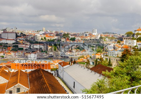 PORTO, PORTUGAL - JUN 21, 2014: Panorama of the Douro Valley of Porto, the second largest city in Portugal and it was called the European Culture Capital in 2001