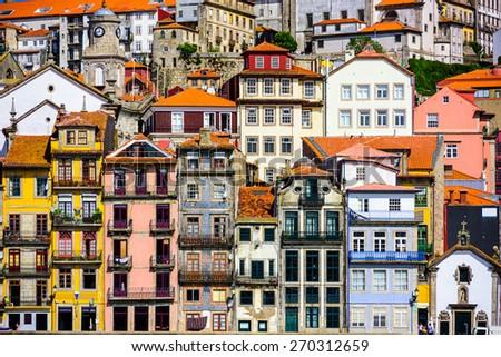 Porto, Portugal old buildings. - stock photo