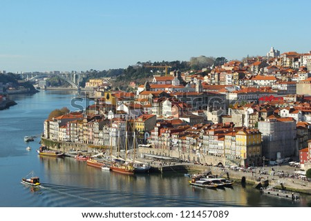 Porto Portugal view of old town