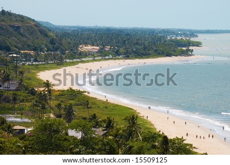 Porto Seguro Beach, Bahia - Brazil . - stock photo