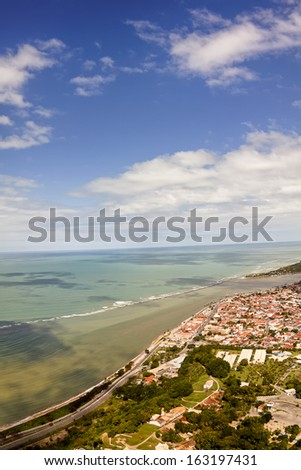 Porto Seguro fro the sky - Bahia, Brasil.  - stock photo