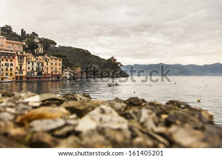 Portofino bay - stock photo