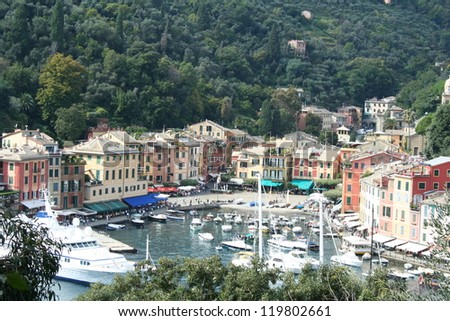 Portofino in Italy - stock photo