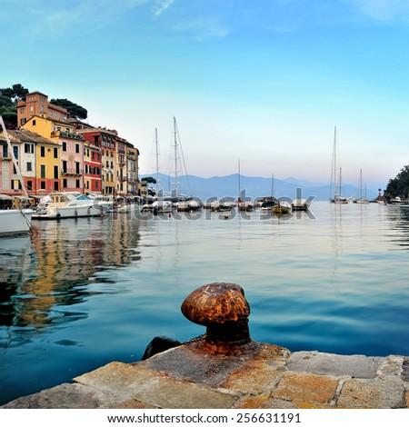 Portofino seashore - stock photo