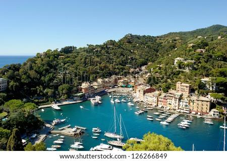 Portofino town in Italy - stock photo