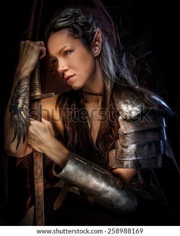 woman sword stock images royaltyfree images amp vectors